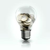 Glühbirne mit Geld